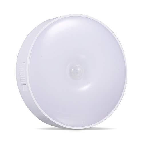 Adaskala Luz de grifo LED para armario, 2 modos, luz nocturna activada por sensor táctil, recargable por USB, 3000K, iluminación de mostrador con hoja magnética para escaleras de armario de dormitorio