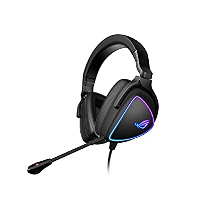 ASUS ROG Delta S Gaming Headset with USB-C | Ai Powered Noise-Canceling Microphone | Over-Ear Headphones for PC, Mac, Nintendo Switch, and Sony Playstation | Ergonomic Design, Black