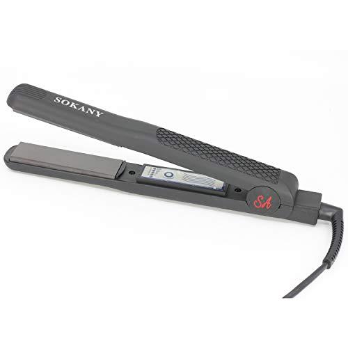SOKANY SA-858 - Plancha de pelo bajo consumo, regulador de temperatura (65W-220V)