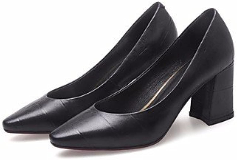 LvYuan-GGX Damen High Heels Komfort Komfort PU Frühling Normal Komfort Schwarz Rot Flach, schwarz, us8   eu39   uk6   cn39  Limit kaufen