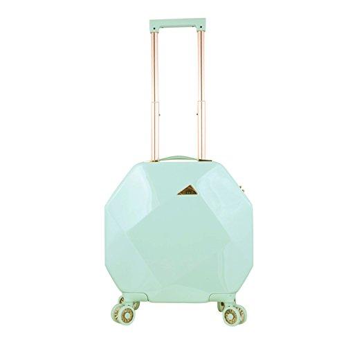 kensie 3D Gemstone TSA Lock Spinner Hardside Luggage and Tote, Mint Option