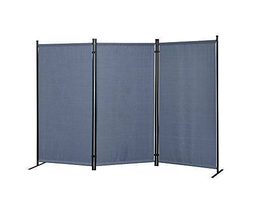 Review Proman Products Galaxy Outdoor/Indoor Room Divider (3-Panel), 102 W X 16 D x 71 H, Gray