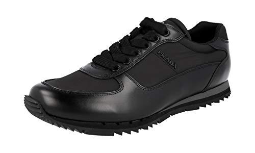 Prada Herren Schwarz Leder Sneaker 4E2721 45 EU/UK 11