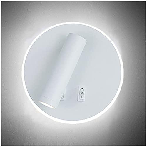 Lámpara de Pared Mesilla de Noche LED, Luz de la Lectura Aplique...