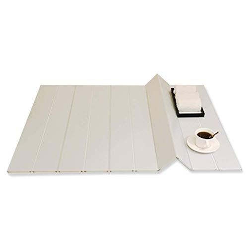 HWZXC Folding Bathtub Trays, Dustproof Bracket Bath Cover Reading Tablet Holder Cellphone Storage Bath Tray for Bathroom Insulation Cover-White 159x75x0.6cm(63x30x0inch)