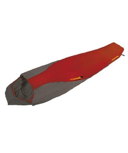 Mumienschlafsack Camping Schlafsack CANYON 200, rot/grau, RO
