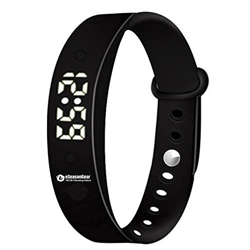 eSeasongear VB150 15 Alarm Vibrating Watch Wristband, Potty Training, Silent Anti-Distraction Focus Attention and Medication Reminder, Sport Timer (Black)