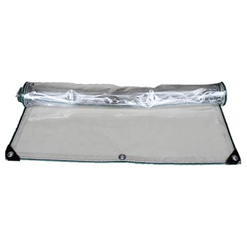 rff La Cubierta Vegetal Transparente PVC Lona de plástico Lona-Impermeable con Perforaciones, a Prueba de Lluvia for la Cubierta de la Flor y el balcón Planta, 300 g/m² (Size : 1.6 * 3m)