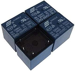 5VDC 10A SPDT Power Signal Relay SRD-05VDC-SL-C - Pack of 4