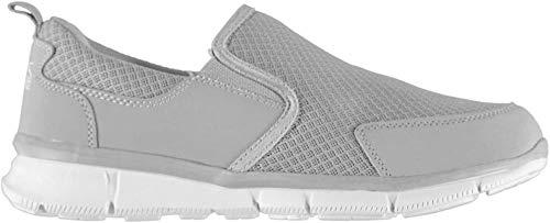 Slazenger Herren Zeal Slipper Turnschuhe Mesh Freizeit Schuhe Sneaker Grau/Weiß 44 EU