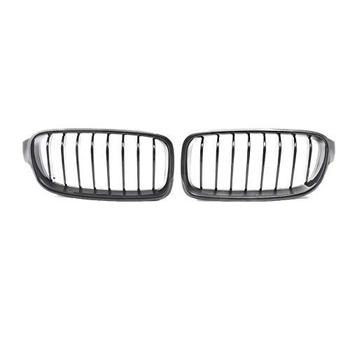 ZHANGJN Nierengrill, echte Kohlenstofffaserfront-Bumper-Nierengrillgitter für-BMW 3-Serie F30 / F31 2012-2018 320i 328i 330i 335i 340i
