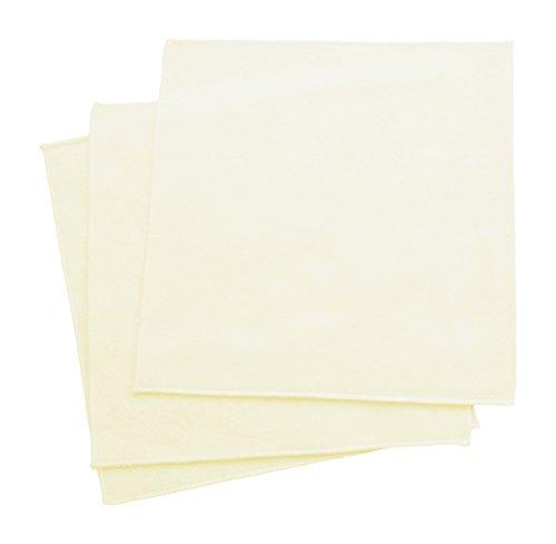 "Organic Handkerchiefs Womens Cotton Flannel – 11"" Unbleached Made in USA set (3)"
