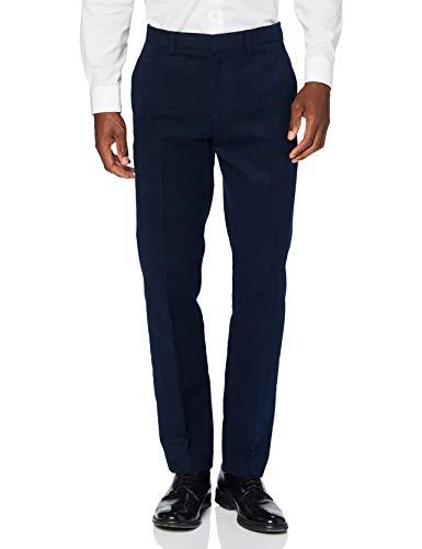 Marchio Amazon - find. Pantaloni Eleganti Slim in Cotone Uomo, Blu (navy), 30W / 32L, Label: 30W / 32L