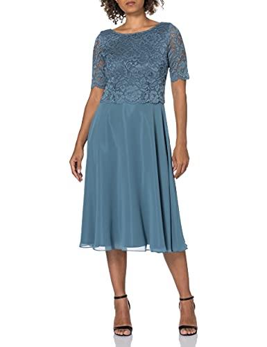 Vera Mont Damen 0113/4825 Cocktailkleid, Blue Dust, 40