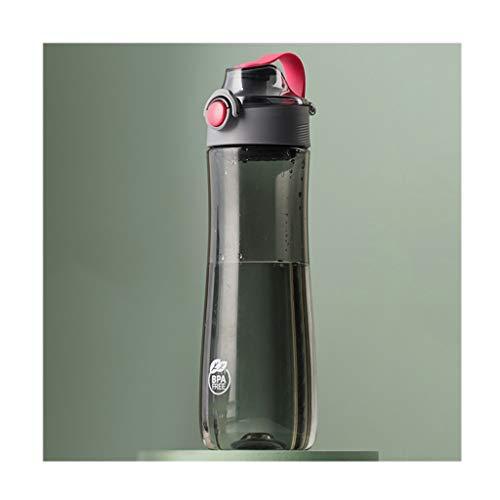 zxb-shop Jarras Grandes Botellas de Deportes acuáticos con Botón Mango portátil/Push, 20.6oz plástico Tazas de Agua con Filtro, Libre de BPA, Medio, a Prueba de Fugas Jarra de Vidrio