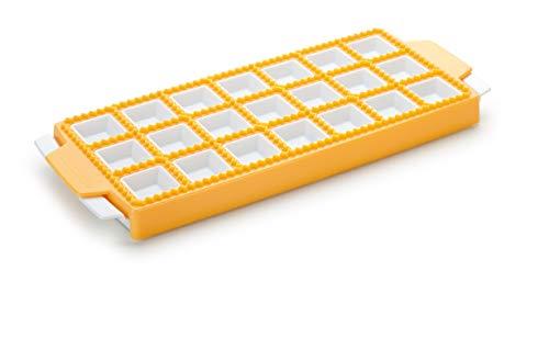 Tescoma Delicia 630879 Stampo per Raviolini Quadrati, Plastica, 21 Pezzi, 1 Pezzo, Giallo