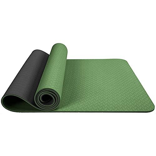 LSLS Esterilla De Yoga Mats de Yoga de 6mm TPE Autería de Yoga Antideslizante sin Deslizamiento portátil Fitness Fitness Mat Esterilla Fitness (Color : E, Size : 183x61x0.6cm)
