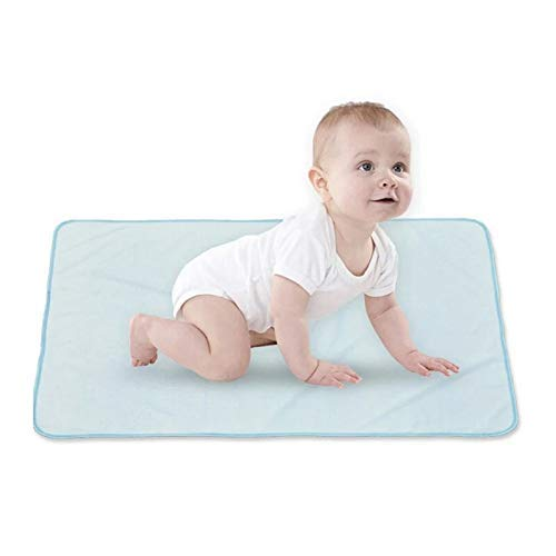 Gather together Sky Blue Newborn Infant Baby Solid Color Bed Nappy Changing Sheet Mat 6147cm Bamboo Fiber Cover Urine Pad Mattress