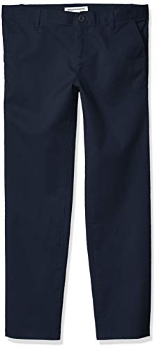 Amazon Essentials Mädchen Flat Front Uniform Chino Pant, Navy Blue, 16(P)