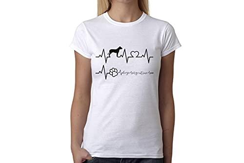 t-shirteria Tshirt electrocardiógrafo Dogo Argentino–I Love Dogo Argentino–Perros–Dog–Love–Humor–Tshirt simpatiche y Divertidos