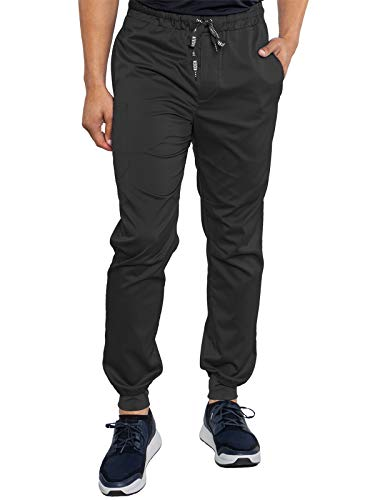 Med Couture RothWear 7777 Men's Bowen Jogger Scrub Pant, Black, X-Small