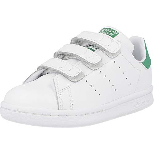 adidas Originals Stan Smith CF, Zapatillas Unisex niños, Blanco (Footwear White/Footwear White/Green), 32 EU