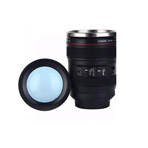 lulongyansf Kreative Kameraobjektiv-kaffeetasse Tragbare Reise-trinkflasche Fotograf Kamera Cup Schwarz 400ml Convenient Versorgung