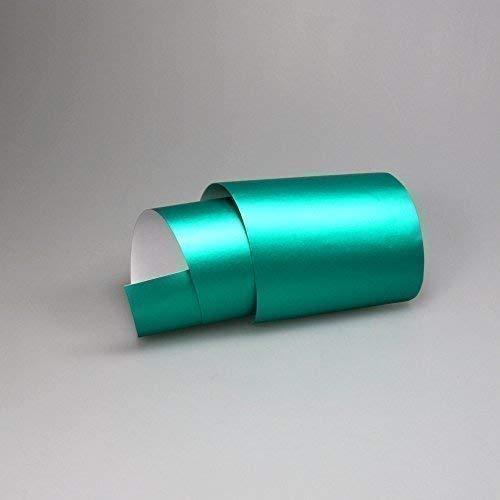 TipTopCarbon 16,45€/m² Chrom Autofolie Matt Ice Türkis 1m x 1,52m Auto Folie BLASENFREI mit Luftkanälen 3D Flex