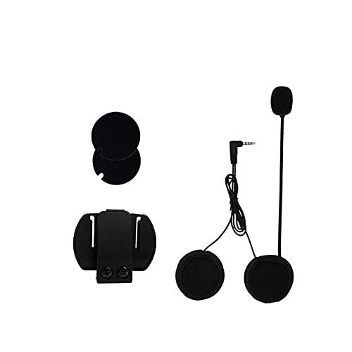 ZHANGFANGPING VNETHEPHONE 3.5MM Auriculares de Altavoz de micrófono y Clip de intercomunicación del Casco Ajuste para la Motocicleta Bluetooth Interphone Fit para V4 V6