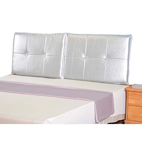 LIANGJUN - Cojín tapizado para mesita de noche, anticolisión, suave, cómodo, impermeable, apoyo a la cintura, fácil de limpiar, 6 colores (color: plata, tamaño: 150 x 60 x 6 cm)