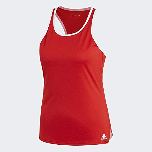adidas Club Tank Camiseta De Tirantes, Mujer, Escarl, L