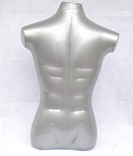 Inflatable Mannequin, Male Torso, Standard Size Silver