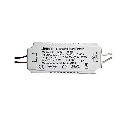 KOSILUM - Transformateur Halogène AC220-240V / AC12V Jindel GET-1003 160W - Lumière Blanc Chaud Eclairage Salon Chambre Cuisine Couloir - 35-160W - - -