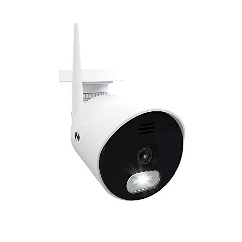 Night Owl 1080p AC Powered Panoramic Wi-Fi IP Indoor/Outdoor Camera with a 140° Ultra Wide Angle View, 2-Way Audio, Built-in Spotlight, Motion Detection, and Remote Viewing Mobile App