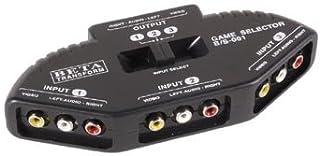 Generic 3 Way Audio Video Av Rca Composite Switch Switcher Splitter+Cable