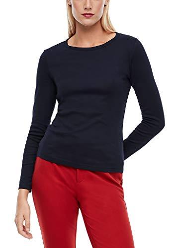 s.Oliver Damen T-Shirt Langarm Navy 36