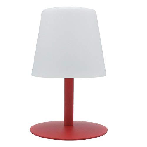 Lumisky Lampe de Table de Jardin lumière Blanche sans Fil sur Batterie STANDY Mini Love à LED 26cm, ABS, Rouge, 15x15xH26