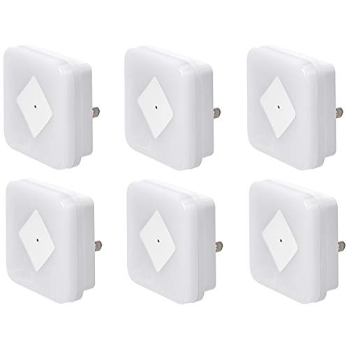 6-Pack AmazonBasics Dual Dimming LED Plug-In Square Night Light  $9.34 at Amazon
