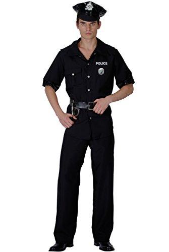 Generique - Déguisement Policier Noir Homme L