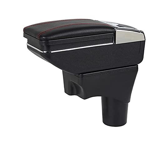 Auto Armsteun Doos, Voor Nissan Sunny Versa 2011-2016 Pu Leer Centrale Winkel Inhoud Doos Bekerhouder Auto-Styling Accessoires Onderdelen(Beige)