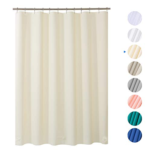 AmazerBath Plastic Shower Curtain Liner, 72' x 72' Beige EVA...