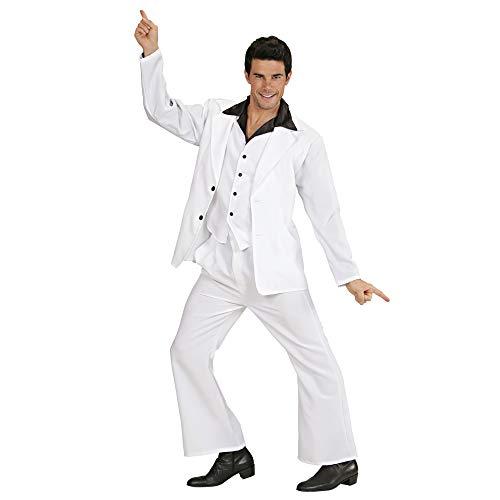 WIDMANN 70s Disco King|John Travolta Suit [Rubies Mens Sizes : XL 46-50' Chest, Waist up to 46', Inside Leg 33'] (disfraz)