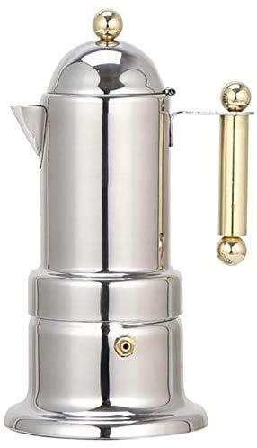 Kaper Go cafetera Máquina de Espresso automático de Acero Inoxidable Mocha200ml 4 Tazas