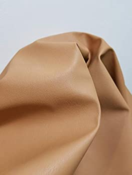 Tan Camel Saddle Faux Leather Synthetic Pleather 0.9 mm Madison 1 Yard 52 inch Wide x 36 inch Long Soft Smooth Upholstery  Camel