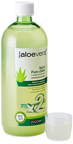 Zuccari Aloevera 2 Succo Puro d'Aloe, 1000 ml
