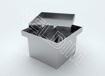 Einbausteckdose, Fußbodendose, Bodensteckdose Edelstahl V2A 1 Steckdose 230V + 2 Anschluss