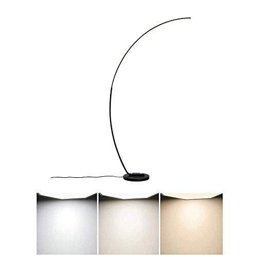 FACAIA Stehlampe gebogener Stiel, Arco Style Stehlicht Dimmbar 3 Farbtemperaturen Augenpflege Leselampen für Baby Wohnzimmer Schlafzimmer