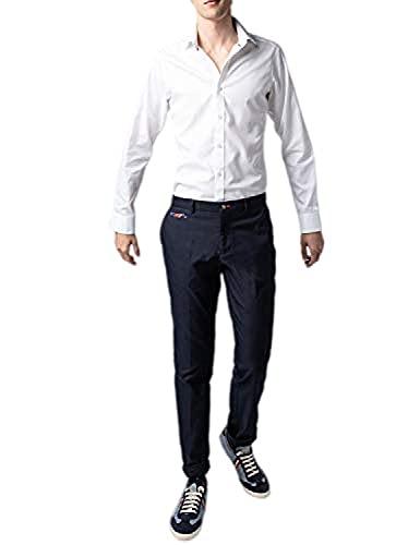 El Ganso 1020S190006 Pantalones, Azul marino, 40 para Hombre