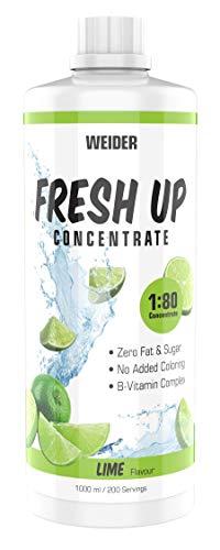WEIDER Fresh Up Lime Getränkekonzentrat , zuckerfrei & ohne Farbstoffe, mit Vitaminen, 1 Liter