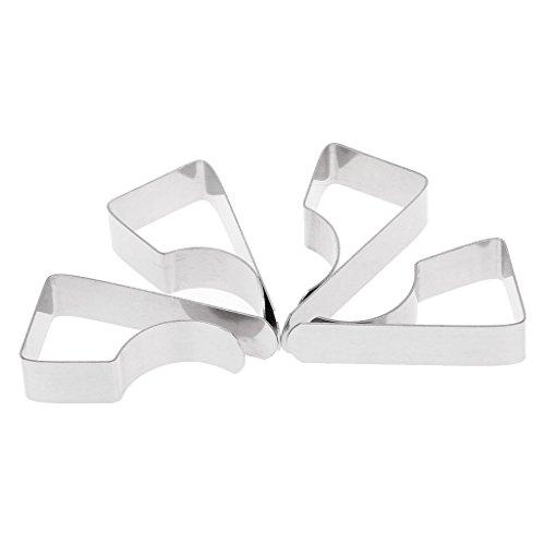 Manyo Tischdeckenklammern, Edelstahl, 4 Stück